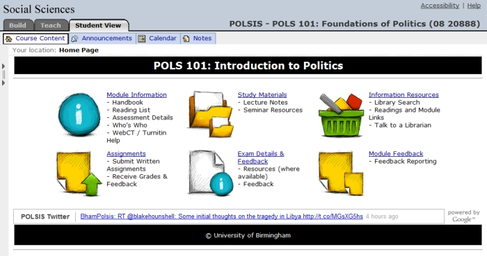 Politics WebCT Module
